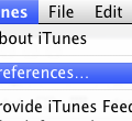 iTunes menu