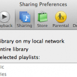 The simplest way to share files to other computers on your network:  share your iTunes library from the system preferences.