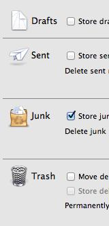 Mailbox behaviour settings