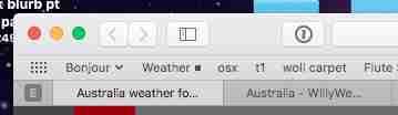 Weather Bookmark