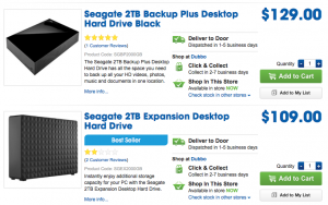 Two Seagate drives