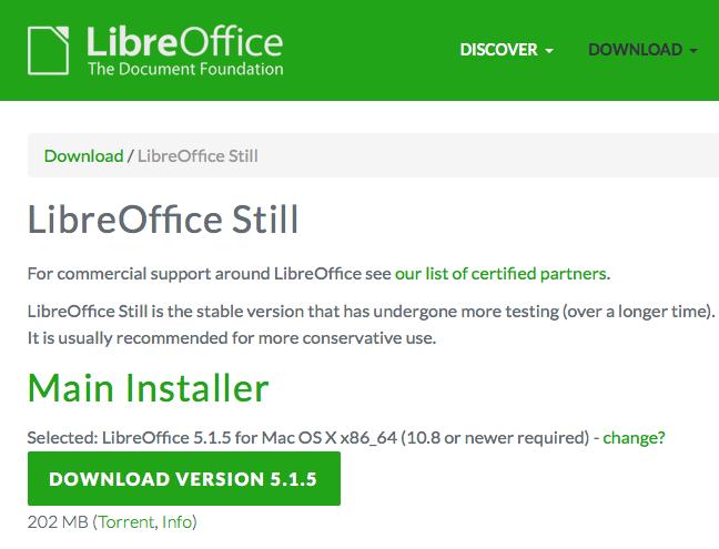 Step 1: download LibreOffice