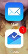 Mail arrives in Google Inbox before Apple mail.