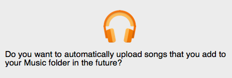 Automatically upload songs